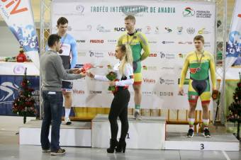 Receiving Silver Medal for Match Sprint